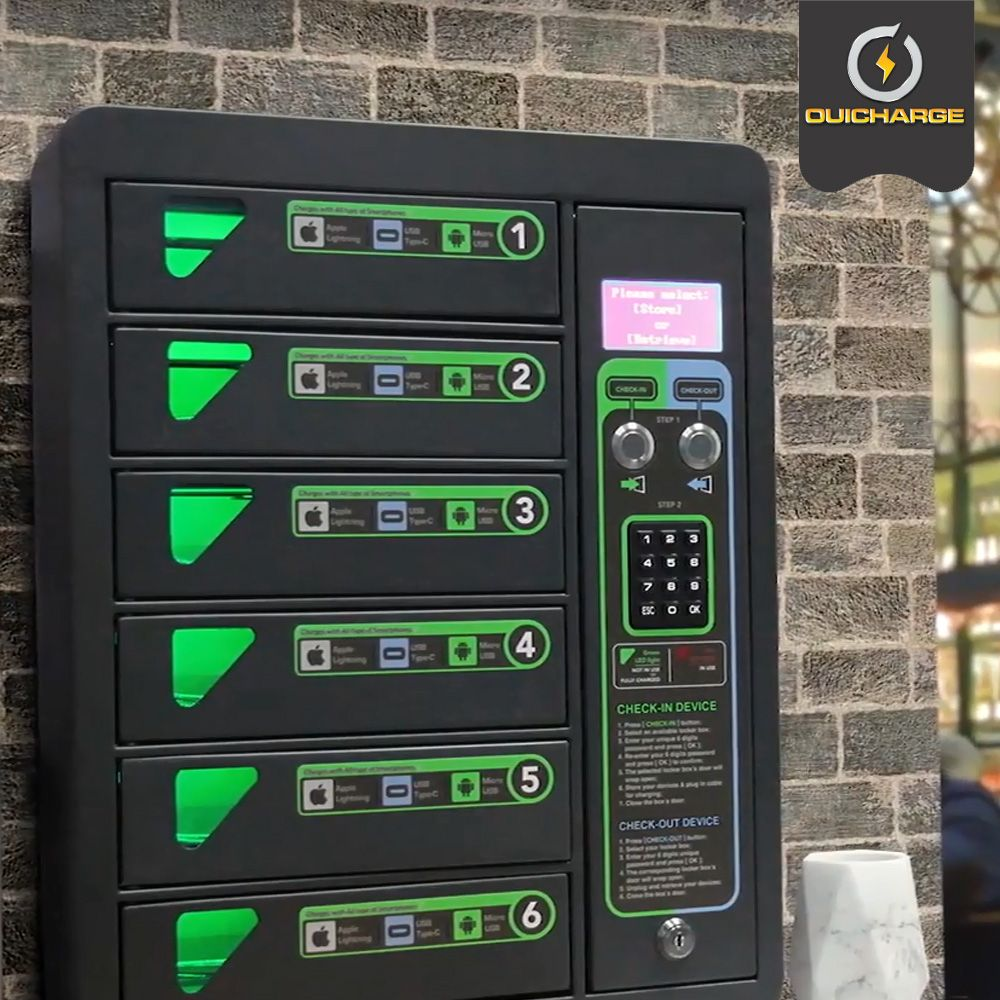 installation-station-rechargement-telephones-salle-sport